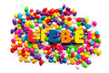 Liebe german word in colorful stones Stock Photos