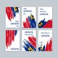 Liechtenstein Patriotic Cards for National Day.