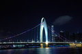 Liede bridge is near the zhujiang new town in guangzhou Stock Image