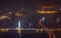 Liede Bridge at night in Guangzhou Stock Photography