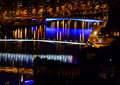 Liege Belgium by night Stock Images