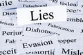 Lies Concept Royalty Free Stock Photo