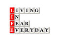Life acronym concept of and other releated words Stock Photo