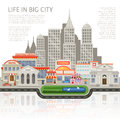 Life In Big City Design Royalty Free Stock Photo