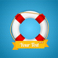 Life bouy background vector with ribbon for your text illustration Stock Image