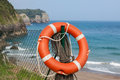 Life buoy on the beach Stock Photos
