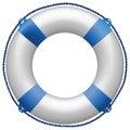 Life buoy blue Royalty Free Stock Photo