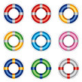 Life buoy in different colours