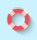 Life buoy in flat style this is file of eps format Royalty Free Stock Photos