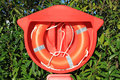 Life buoy a lifeline for relief for drowned at sea ocean river and river Royalty Free Stock Image