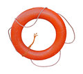 Life buoy orange isolated with clipping path included Royalty Free Stock Images