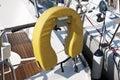 Life buoy on sailing boat Royalty Free Stock Photo