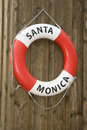 Life buoy of Santa Monica Stock Photography