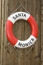 Life buoy of Santa Monica Royalty Free Stock Photo