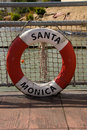 Life buoy of Santa Monica Royalty Free Stock Image