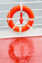 Life buoy on sea cruise liner Royalty Free Stock Images