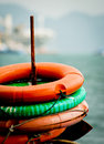 Life buoys on a boat Royalty Free Stock Photography