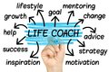 Life Coach Word Cloud tag cloud isolated Royalty Free Stock Photo
