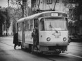 Life cycle old tram in bucharest romania Royalty Free Stock Photo