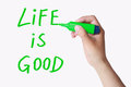 Life is good Royalty Free Stock Photo