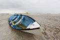 Life guard boat on Nickerson Beach, NY Royalty Free Stock Photo