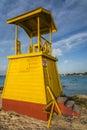 Life guard tower Barbados Royalty Free Stock Photo