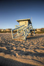 Life Guard Tower at Sunset Royalty Free Stock Photos