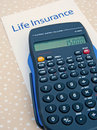 Life insurance; calculating the annual premium. Royalty Free Stock Photography