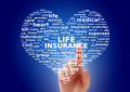 Life insurance collage. Royalty Free Stock Photo