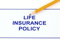 Life insurance policy Royalty Free Stock Photo