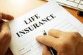 Life insurance policy. Royalty Free Stock Photo