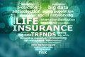 Life insurance trends future words Royalty Free Stock Photo