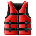 Life jacket red with black belts Stock Photography