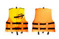 Life jacket small on white background Royalty Free Stock Images