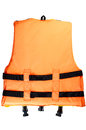 Life jacket small on white background Stock Image