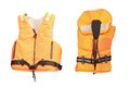 Life jacket under the white background Stock Photos