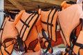 Life jackets Royalty Free Stock Photo
