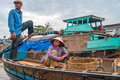 Life on the mekong river can tho vietnam Stock Photos