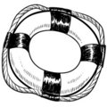Life preserver drawing Royalty Free Stock Image
