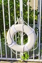 Life preserver a floatation device for safety near water Stock Photography