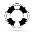 Life preserver ring vector icon Royalty Free Stock Photo