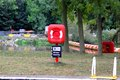 Life savers saving rings at gunthorpe lock on the river trent Royalty Free Stock Photography