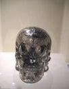 Life size quartz crystal skull - details Royalty Free Stock Photo