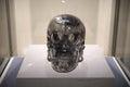 Life size quartz crystal skull Royalty Free Stock Photo