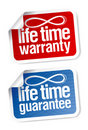 Life time guarantee stickers Royalty Free Stock Photo