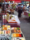 Life on typical street market in thailand food drink beverage easy way of Royalty Free Stock Image
