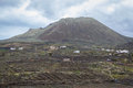 Life underneath the volcano farmhouses a in lanzarote Royalty Free Stock Images