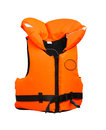 Life vest florescent orange lifevest isolated included clipping path Royalty Free Stock Photos