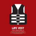 Life vest vector illustration jacket for safety in water Royalty Free Stock Photo