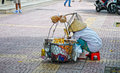 Life of Vietnamese vendors in Saigon Royalty Free Stock Photo